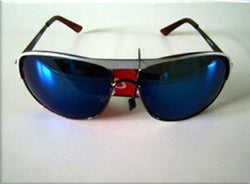 Metal Frame Gradient Tint Lens Fashion Sunglasses UV400 -  - Sunglasses - Raintopia - 1