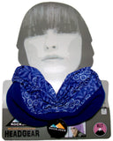 Ladies Multifunctional Snood Head Warmer One Size - Blue Flower - Scarves & Shawls - Raintopia - 9