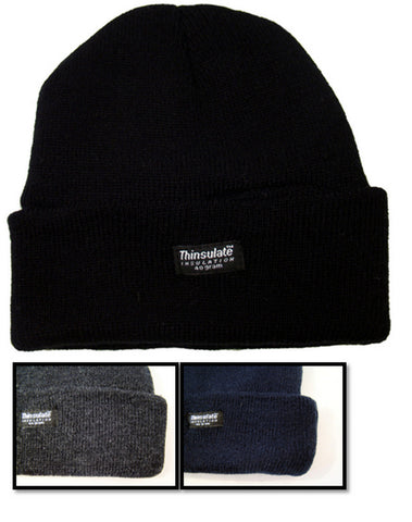 Boys Thinsulate Knit Ski Beanie Hat Size 6-9 10-13 Years -  - Hats - Raintopia - 1