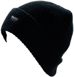 Boys Black Beanie Hat with Thinsulate Acrylic One Size - Default Title - Hats - Raintopia - 1