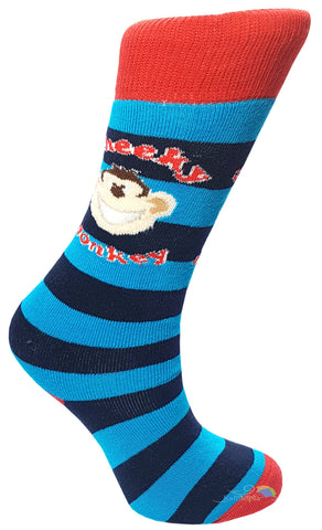 Boys 'Cheeky Monkey' Design Striped Welly Socks -  - Socks - Raintopia - 1