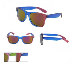 Dual Colour Wayfarer Sunglasses Semi-Transparent Frame Spectrum Lens With Pouch -  - Sunglasses - Raintopia - 1