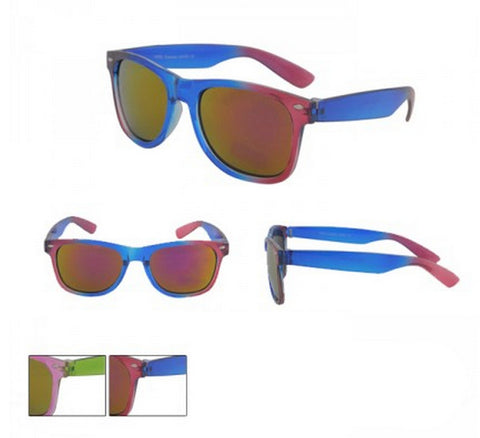Dual Colour Wayfarer Sunglasses Semi-Transparent Frame Spectrum Lens UV400 BNWT -  - Sunglasses - Raintopia - 1
