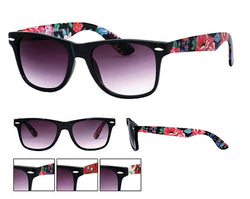 Floral Frame/Arm Design Wayfarer Sunglasses Dark Lens UV400 -  - Sunglasses - Raintopia - 1