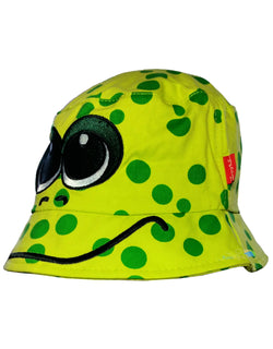 Child's Cotton Frog Summer Bucket Sun Hat -  - Hats - Raintopia - 1