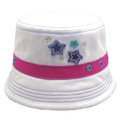 Girls Star Design Summer Bush/Bucket/Sun Hat Size 53-55cm 100% Cotton -  - Hats - Raintopia - 1