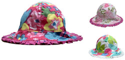 Baby/Toddlers Reversible Floral Design Bush Hat Elasticated Back BNWT -  - Hats - Raintopia - 1