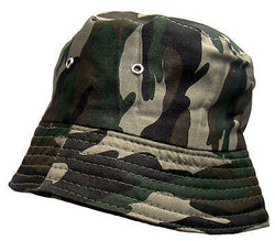 Men's 'Woodland' Camouflage Reversible Bush/Bucket Hat One Size -  - Hats - Raintopia - 1