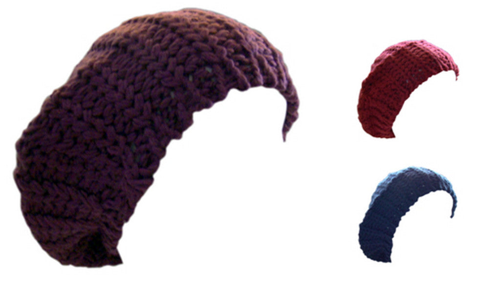 Ladies Chunky Knit Beanie Beret Hat One Size 3 Colours -  - Hats - Raintopia - 1