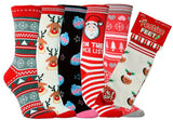 Ladies Christmas Socks Various Festive Designs Cotton UK 4/8, EUR 37/42 - Christmas Pudding - Socks - Raintopia - 1