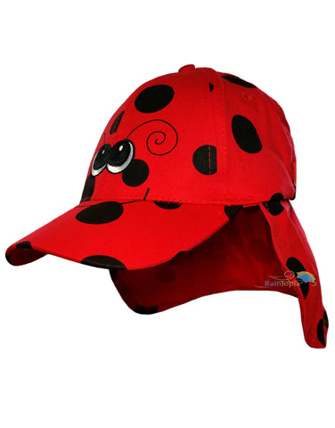Child's Cotton Ladybird Summer Legionnaire Hat -  - Hats - Raintopia - 1