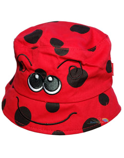 Child's Cotton Ladybird Summer Bucket Sun Hat -  - Hats - Raintopia - 1