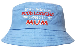 Kids Mum Design Bucket Hat - 0-3 Months (44cm) / Blue - Hats - Raintopia - 1