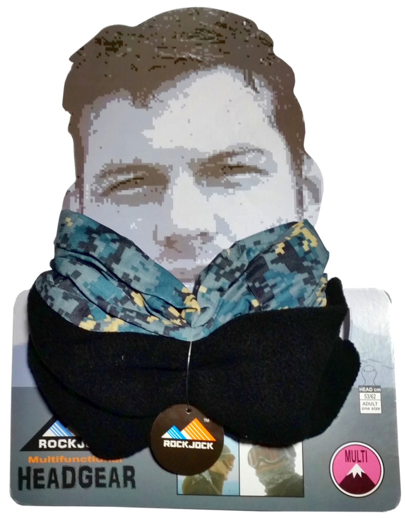 Men's Pixelated Blue Design Multifunctional Snood Hat Scarf -  - Scarves & Shawls - Raintopia - 1