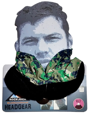 Men's Pixelated Green Design Multifunctional Snood Hat Scarf -  - Scarves & Shawls - Raintopia - 1