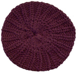 Ladies Chunky Knit Beanie Beret Hat One Size 3 Colours -  - Hats - Raintopia - 3