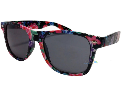Black Rose Frame Wayfarer Sunglasses Dark Lens -  - Sunglasses - Raintopia - 1