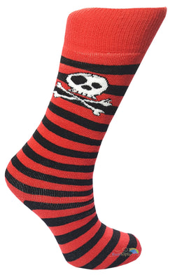 Boys 'Skull & Crossbone' Striped Welly Socks -  - Socks - Raintopia - 1