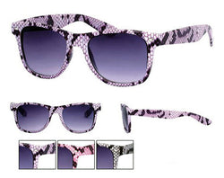 Snake Skin Frame Design Wayfarer Sunglasses Dark Lens  UV400 -  - Sunglasses - Raintopia - 1