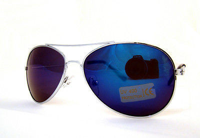 Childrens Full Blue Lens Mirror Aviator Sunglasses Dark Tinted -  - Sunglasses - Raintopia