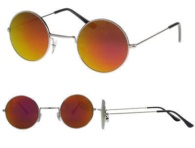 Small Round Lennon Style Sunglasses Orange Spectrum Lens -  - Sunglasses - Raintopia