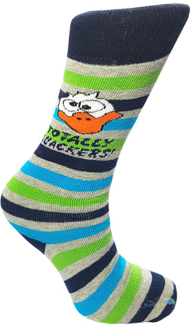Boys 'Totally Quackers' Duck Striped Welly Socks -  - Socks - Raintopia - 1