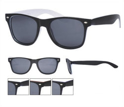 Two Tone Black Colour Wayfarer Sunglasses Dark Lens 80s Retro UV400 -  - Sunglasses - Raintopia - 1