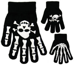 Skull And Crossbones Gripper Magic Gloves One Size -  - Gloves & Mittens - Raintopia - 1