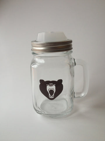 """Bearly There"" Mason Jar & Cappow Lid"