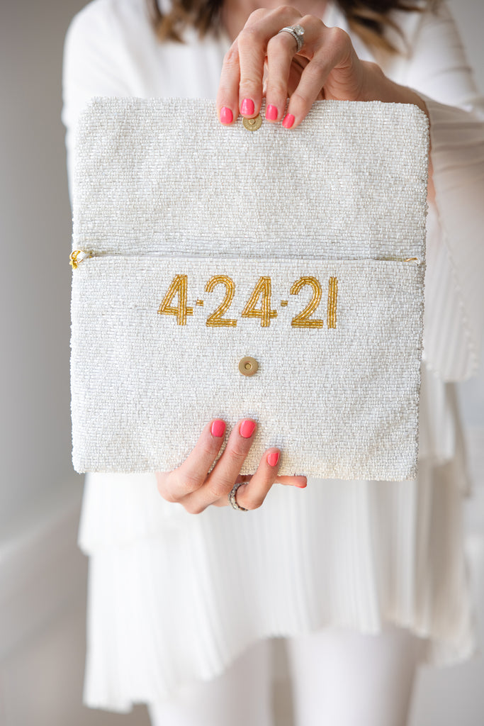 Custom Bridal Clutch - LARGER SIZE