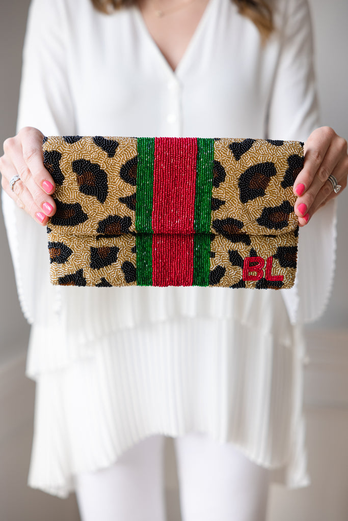 Custom Beaded Clutch - LARGER SIZE