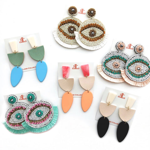 Evil Eye Fringe Earrings - CLICK FOR ALL COLORS