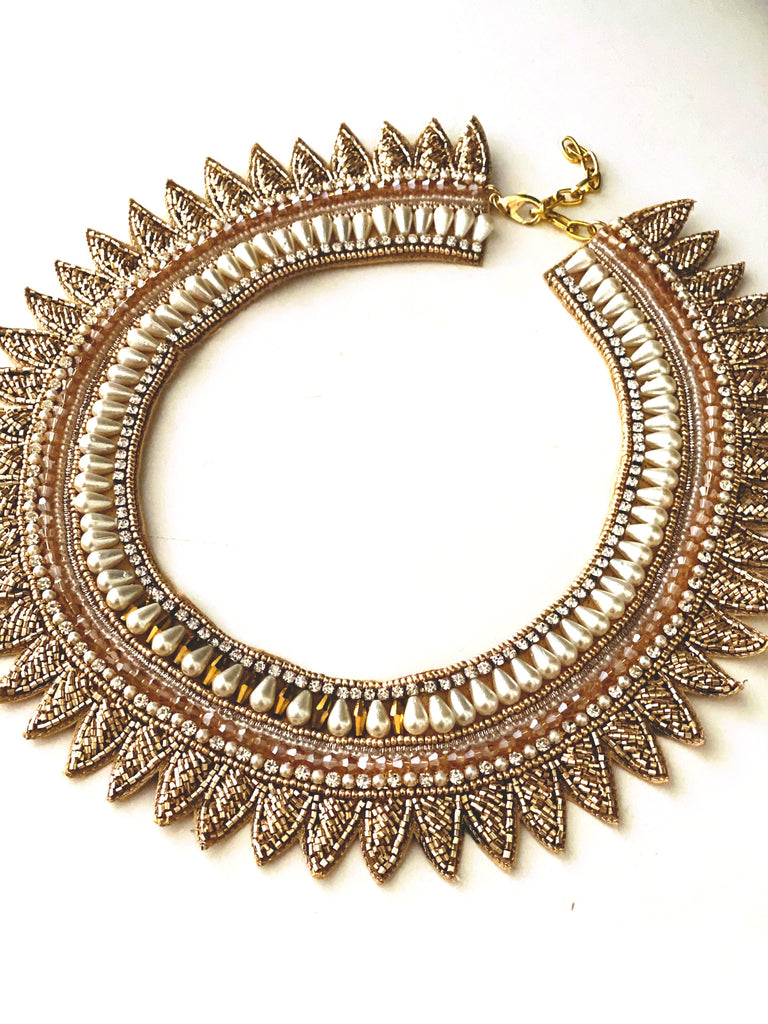 Crosby Collar Necklace in Gold