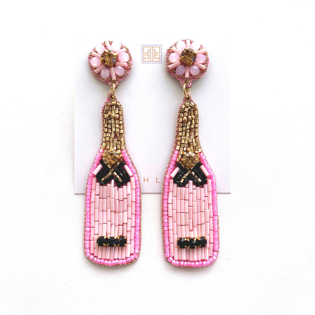 Rosé / Light Pink Champagne Earrings