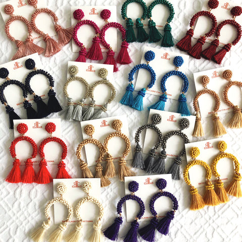 Horseshoe Earrings - CLICK FOR ALL COLORS