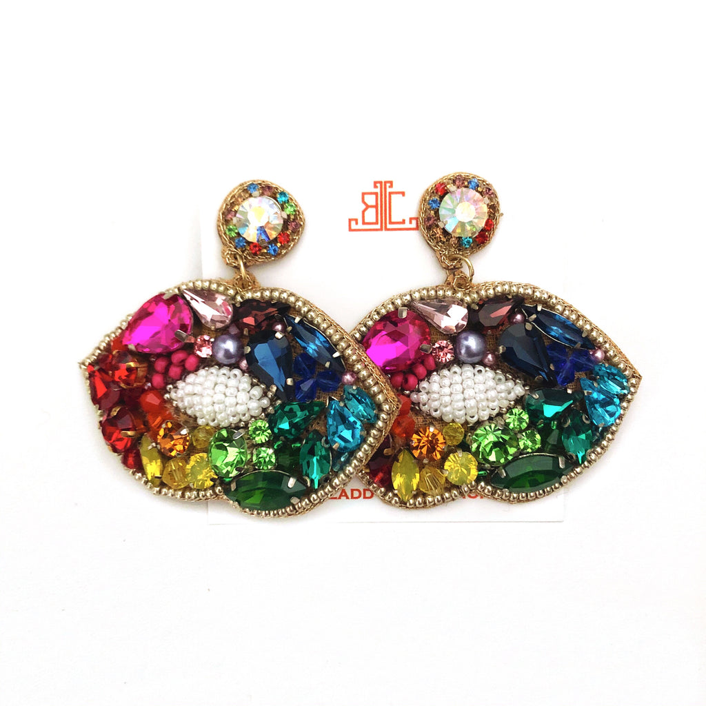 Rainbow Lip Earrings