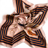 Faux Silk Scarf - BLUSH, NAVY, ORANGE