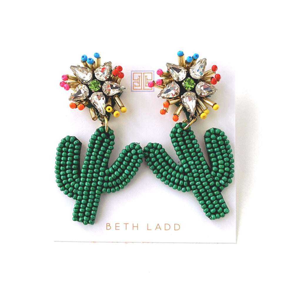 Colorful Cactus Earrings