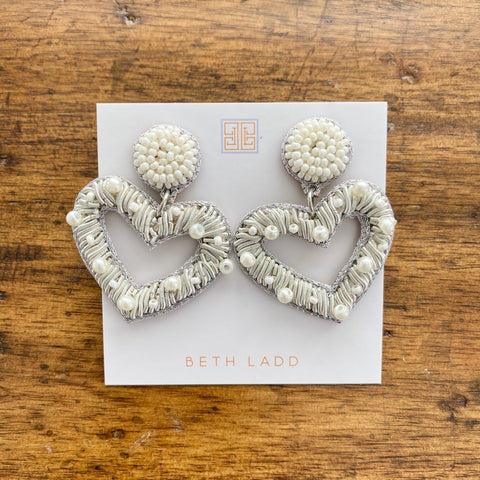 Ivory Pearl Heart Earrings