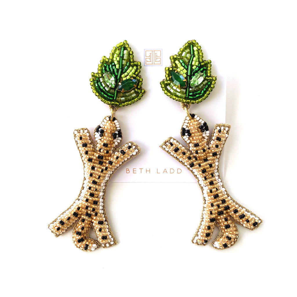 Leopard/Leaf Earrings