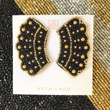 RBG Earrings in Black/Gold