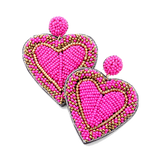 Beaded Heart Earrings - CLICK FOR ALL COLORS