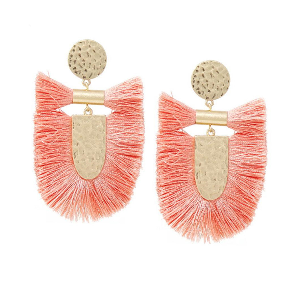 Reese Earrings in Coral