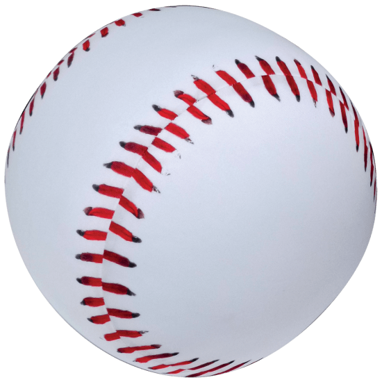 Iscream Baseball 3D Microbead Pillow