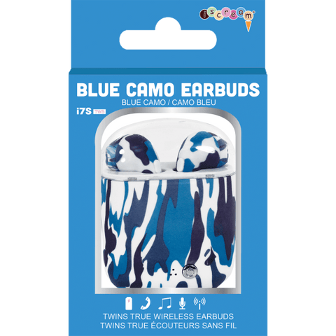 Iscream Blue Camo Ear Buds