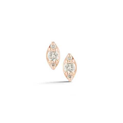Dana Rebecca Sophia Ryan Mini Marquise Studs in Rose Gold