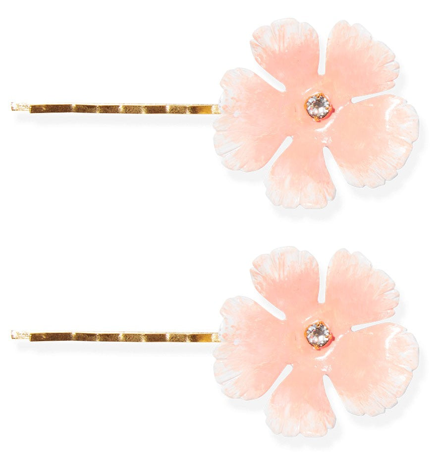 Jennifer Behr Buttercup Bobby Pins in Blush