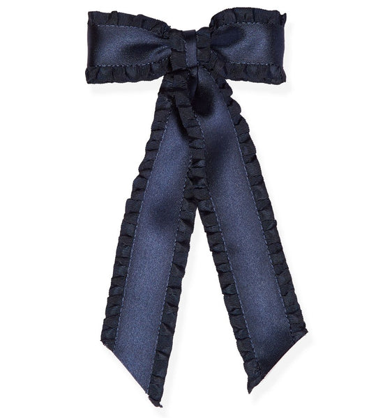 Jennifer Behr Olivia Bow in Navy