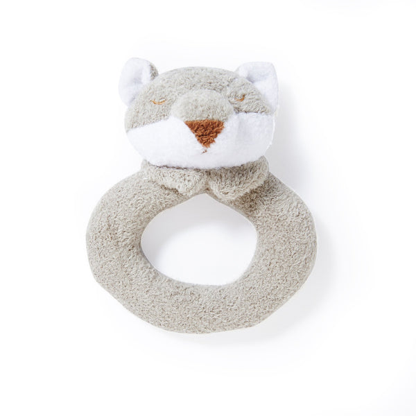 Angel Dear Grey Fox Ring Rattle