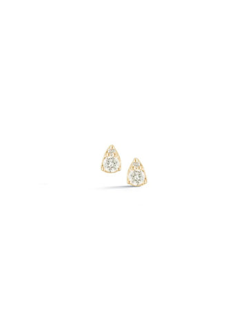 Dana Rebecca Sophia Ryan Petite Teardrop Studs in Yellow Gold